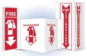 fire extinguisher dimensional signs
