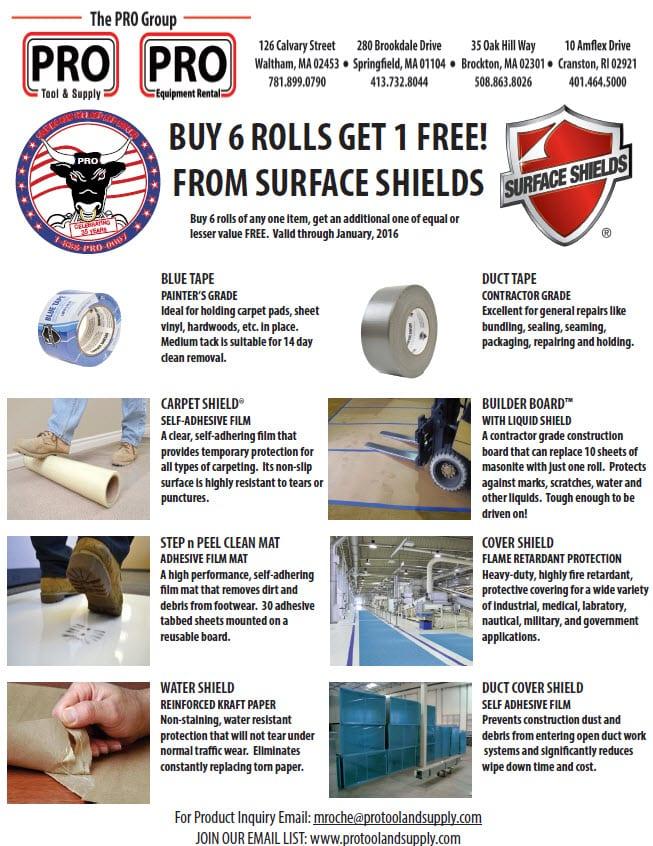 surface shield rolls